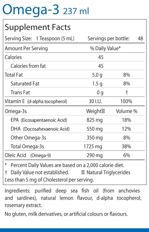 Omega-3-237ml supplement facts